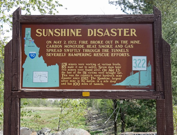 Sunshine Mine Sign