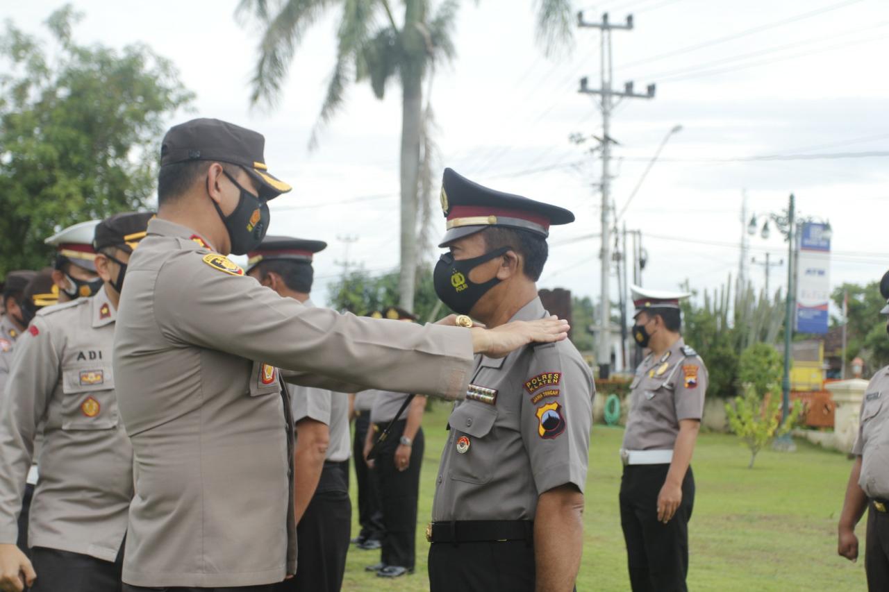 Tahun Baru 134 Personel Polres Klaten Naik Pangkat