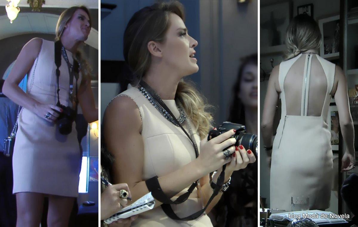 moda da novela Império - look da Érika com vestido festa dia 19 de setembro