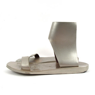 Rick Owens Metallic Leather Sandal