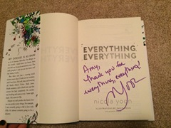 Everything, Everything signed