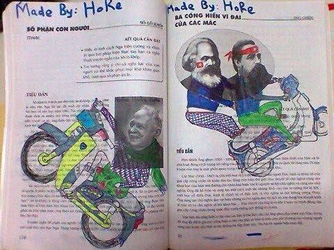 ảnh vẽ bậy vào sách giáo khoa