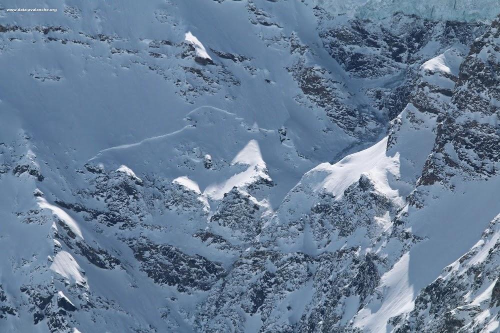 Avalanche Alpes Grées, secteur Albaron - Photo 1 - © Coubat Grégory