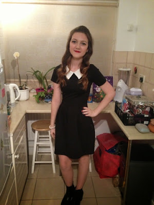 Boohoo collared black dress