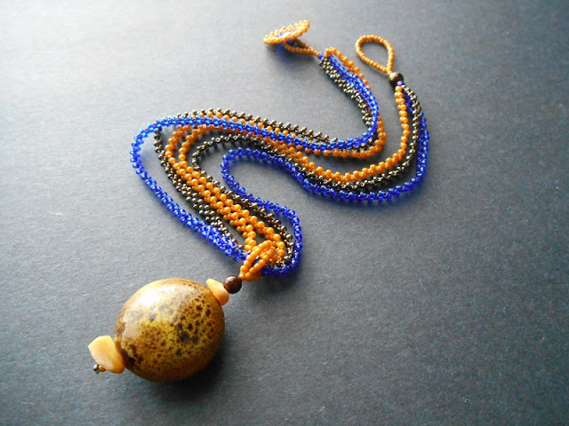 Earthy Ceramic Chain Pendant