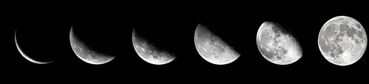 Moon Phase Crescent To Full Image