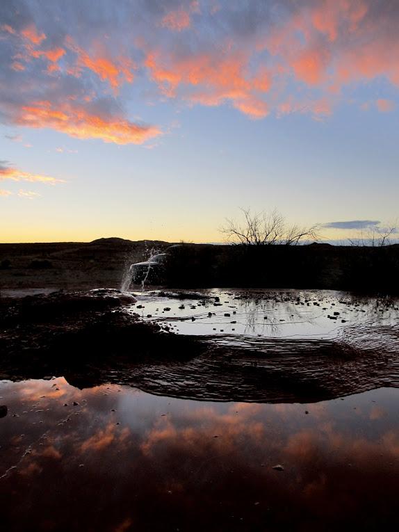 Clouds and Chaffin Geyser