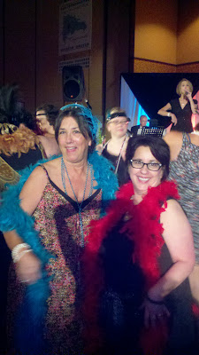 Barb Girson having fun during the speaking event at a National Conference