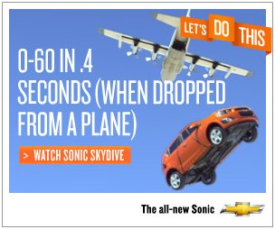 Chevrolet ad featuring new Sonic