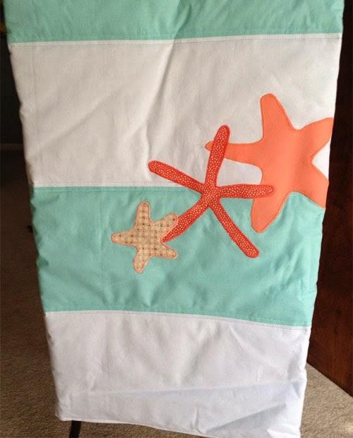 Inspiração: estrela do mar - colcha