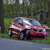 Eenzijdig ongeval met Kia op N367 bij windhondenrenbaan Oude Pekela - Foto's Teunis Streunding