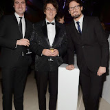 WWW.ENTSIMAGES.COM -   Mike Read and Blake  at      Steps To The Future - fundraiser at The Hurlingham Club, London November 28th 2014Charity gala evening in aid of Walking With The Wounded and the Restoration of Appearance & Function Trust.                                                   Photo Mobis Photos/OIC 0203 174 1069