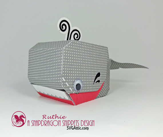 Whale 3D box - SnapDragon Snippets - Ruthie Lopez