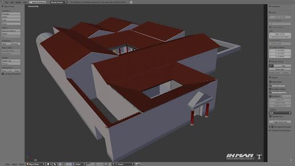 Villa 3d modo sólido