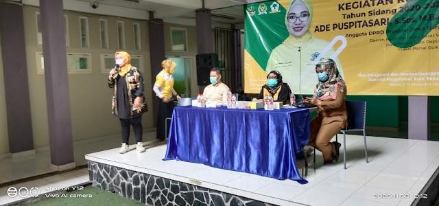 Reses I Anggota DPRD Provinsi Jawa Barat, Ade Puspitasari Siap Membawa Anggaran Provinsi Untuk Kepentingan Masyarakat Kota Bekasi