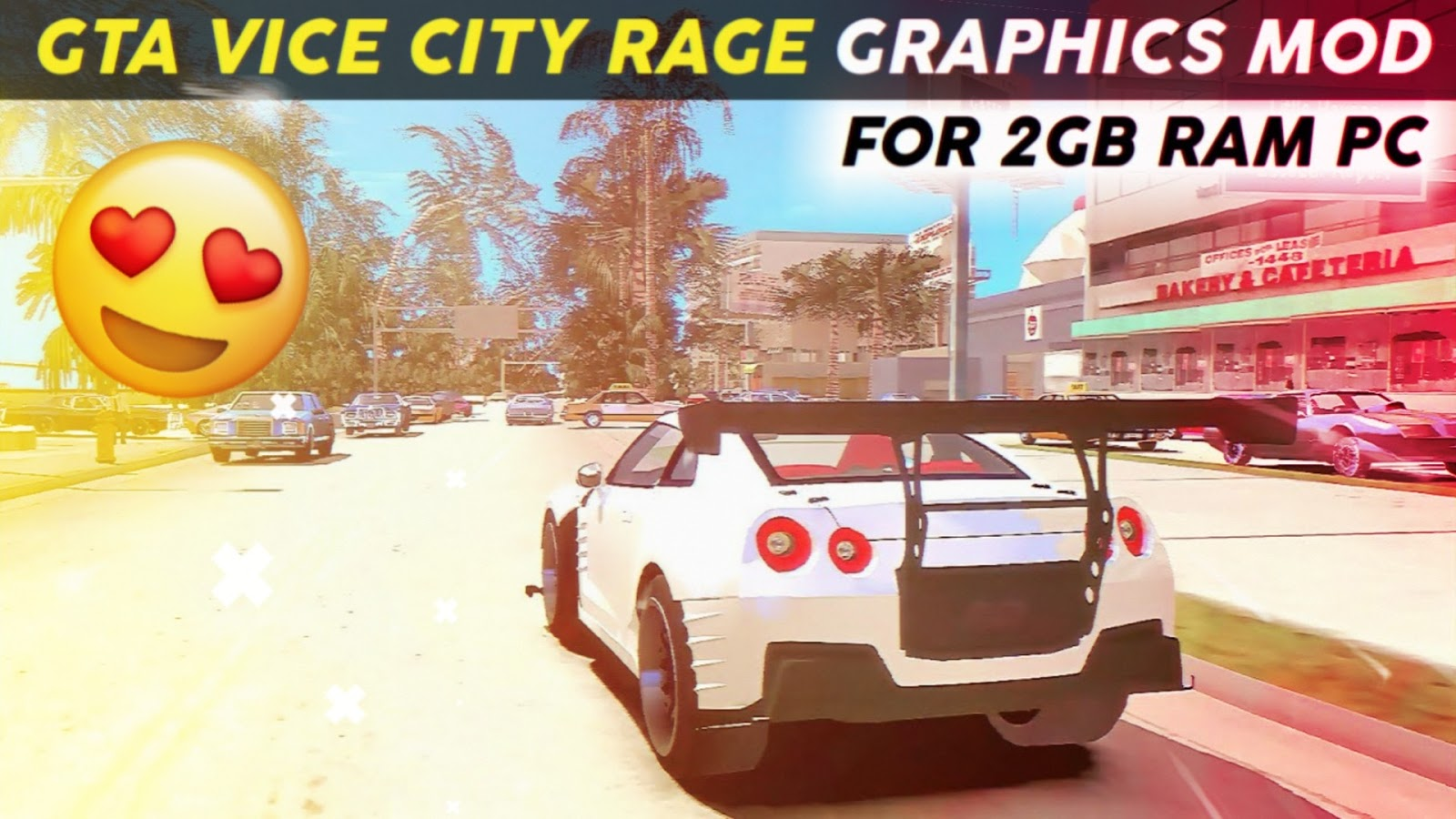 GTA Vice City - Ultra Realistic Graphics MOD for PC | Working in 2GB RAM