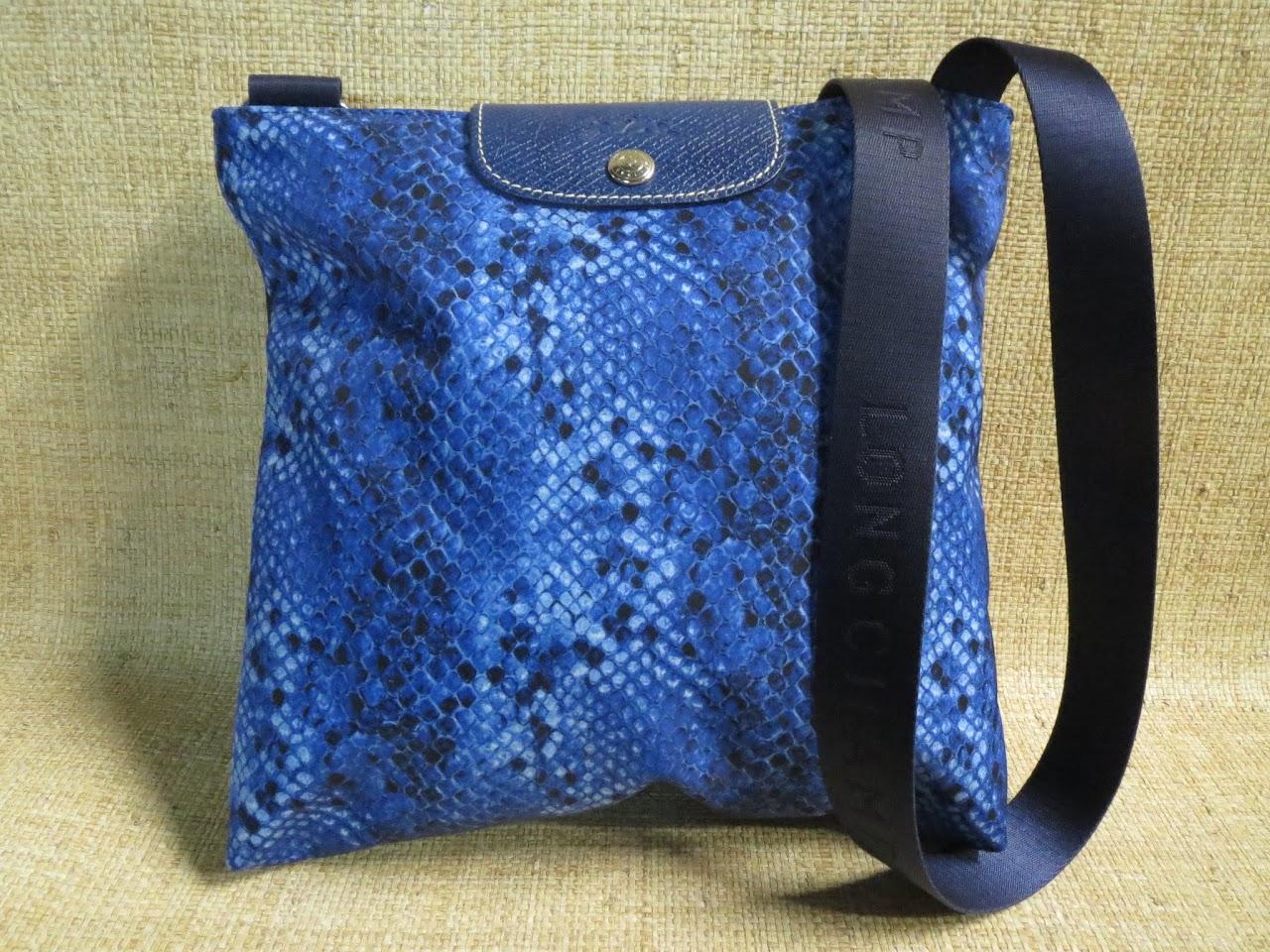 Longchamp Python-Inspired Crossbody Bag