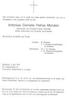 Monden, Antonius Cornelis Petrus Rouwadvertentie.jpg