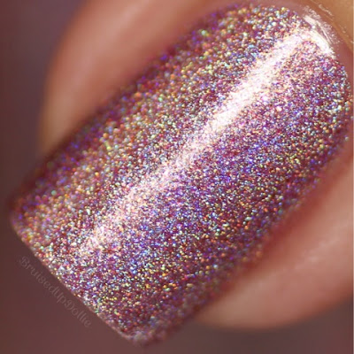 Glam Polish Pink Gold Peach Macro