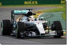 Lewis Hamilton nelle prove libere del gran premio d'Australia 2016