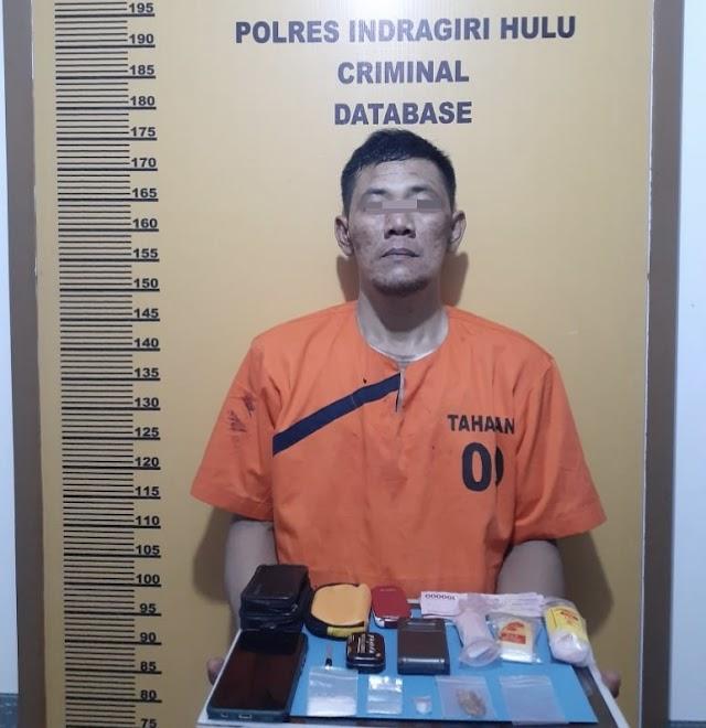 Nyaris Telan 2 Paket Sabu, Satres Narkoba Polres Inhu Bekuk Keken