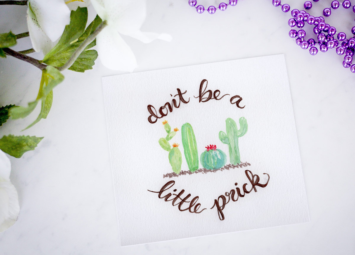 Little prick cactus printable