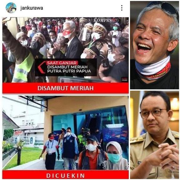 Netizen Bandingkan Momen Ganjar dan Anies Saat Tiba di Papua: Yang Satu Disambut Meriah, Satu Lagi Dicuekin