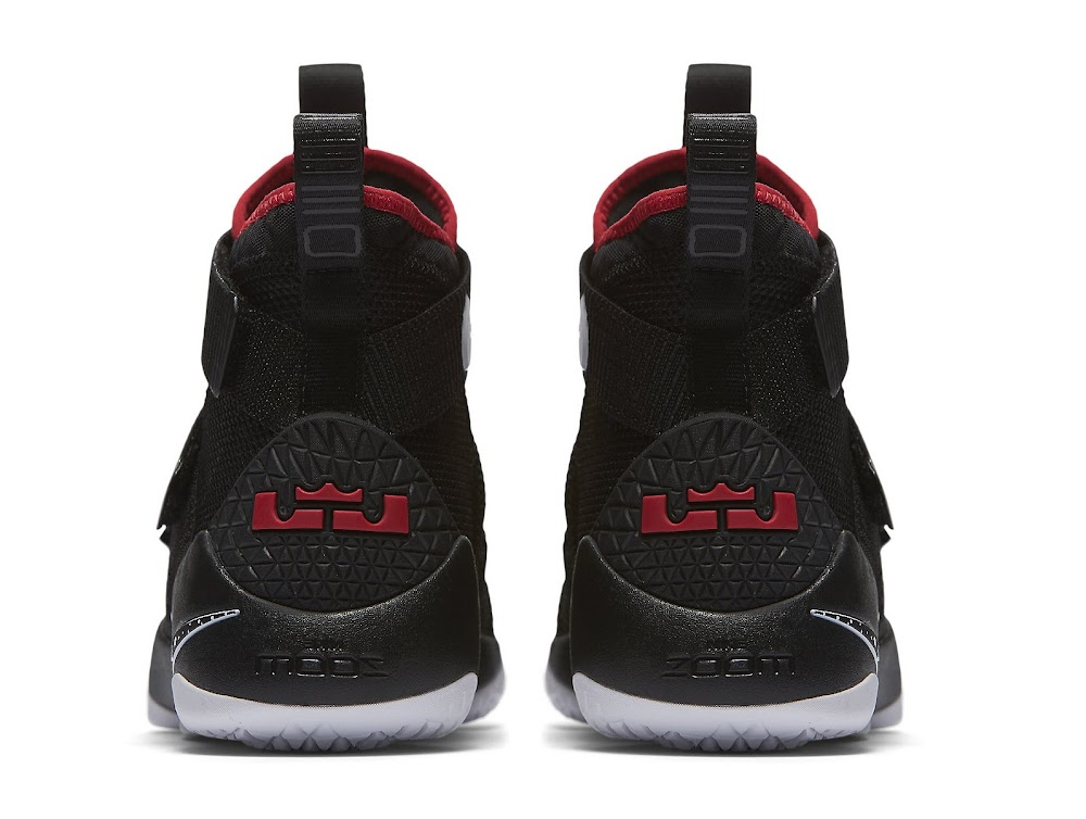 1b0d08112c4 ... Available Now Nike LeBron Soldier 11 Black and Red ...