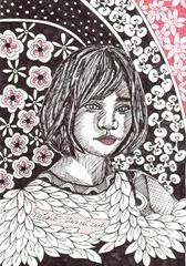 593 Zentangle Tibethan Girl
