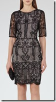 Reiss Zola Black Lace Dress
