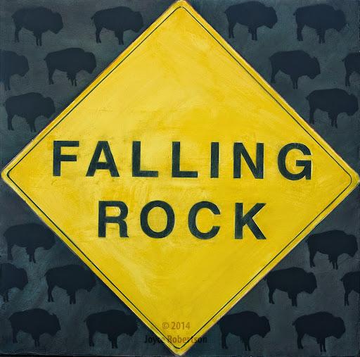 Falling Rock, by Rebecca Heller