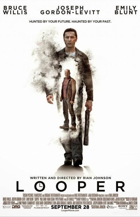 Poster Of Looper (2012) Full Movie Hindi Dubbed Free Download Watch Online At Alldownloads4u.Com