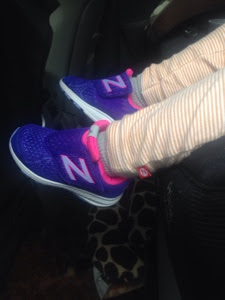 New Balance purple toddler sneakers