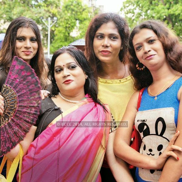 Shreya, Madhuja, Mallika and Jaya during the 13th edition of Kolkata Rainbow Pride Walk 2014, held in Kolkata.