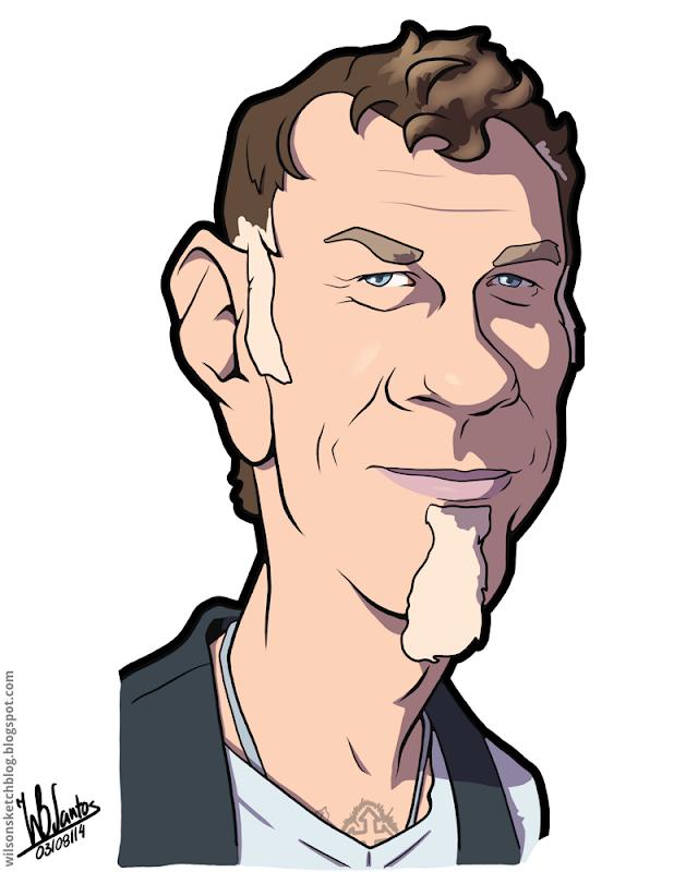 Cartoon caricature of James Hetfield.