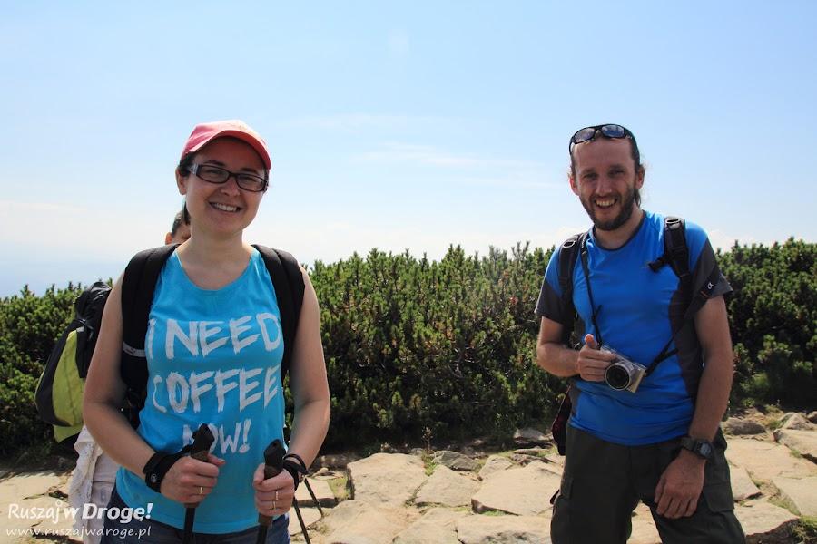 W drodze na szczyt Babiej Góry - Kasia i Andrzej i... Alicja ;)