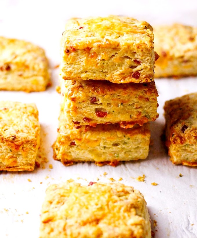 Cheddar Bacon Chive Biscuits Recipe   Breakfast Care
