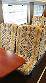 Lounge car in the Amtrak in the new Portland Now train