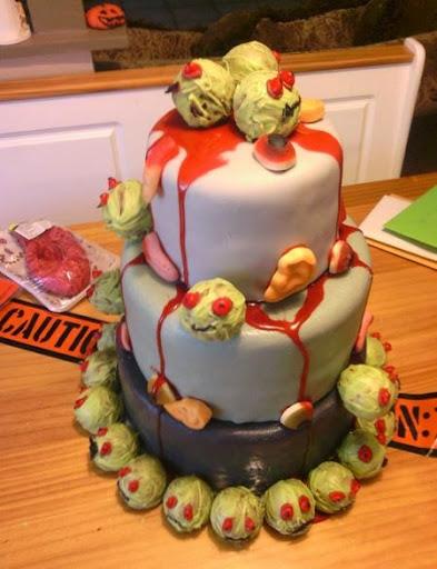 Zombie Birthday Cakes