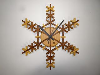 スノークリスタルクロック snow crystals clock