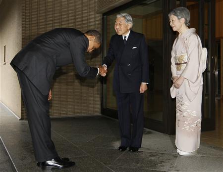 今上天皇に挨拶する海外の大統領やダイアナ妃