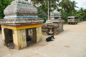 Thirunanipalli (Ponsei) Temple Nandi Mandapam & Bali Peedam