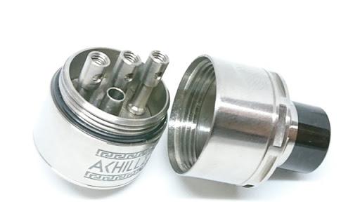 DSC 7235 thumb%255B2%255D - 【RDA】 ACHILLES dual RDA by Titanium Mods (アキレスデュアルRDA)レビュー。アキレスIIのデュアルビルド対応バージョン!チタン製で軽量・爆煙・味良し