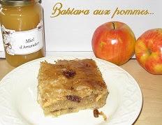 Baklava aux pommes et aux raisins