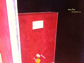 Toilettes - Stuco - Enduit a la chaux