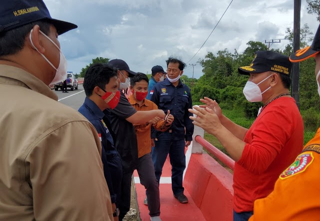 Antisipasi Ini, Gubernur Sugianto Cek Kondisi Jalan dan Jembatan