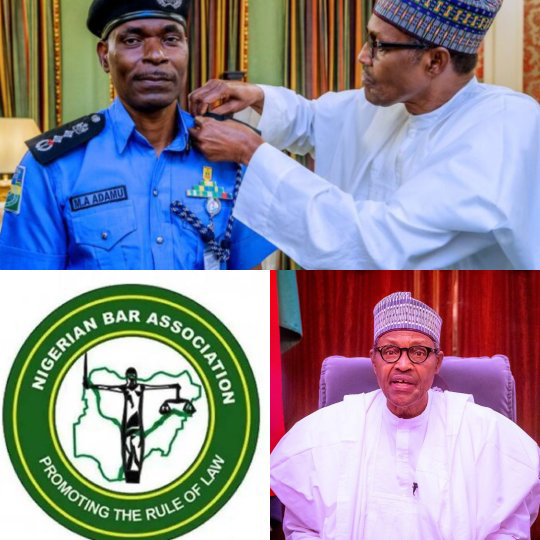 NBA institutes legal action against Buhari, challenging the extension of tenure of IGP.