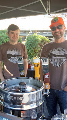 Widmer Brothers brewing serving up the Rauch Und Kirschen beer that was a beer created in collaboration with Aaron Franklin, and the El Ijerto Pale Ale created in collaboration with Stumptown Coffee, as well as their classic Hefeweizen