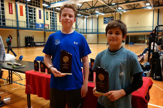 BU13 flight: Alexander Schwartz, Champion, and Ruslan Quigley, Finalist