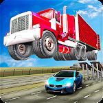 Ramp Truck Trailer Open Doors Car Racing Stunts Icon